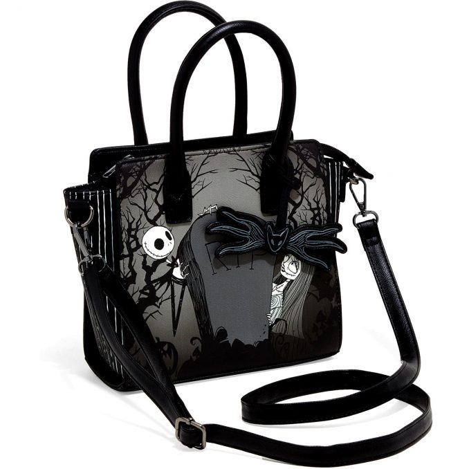 Nightmare Before Christmas Jack & Sally Graveyard Satchel Bag