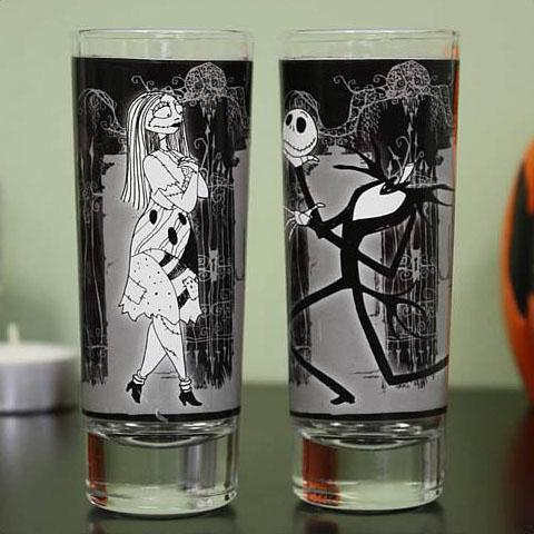 Nightmare Before Christmas Jack & Sally Shot Glasses