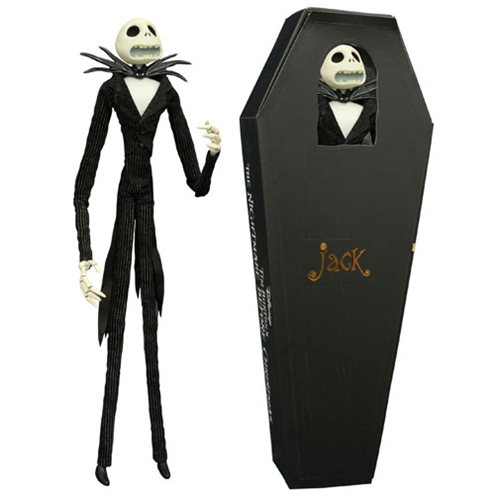 Nightmare Before Christmas Jack Skellington Coffin Action Figure