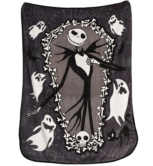 Nightmare Before Christmas Jack Skellington Coffin Throw