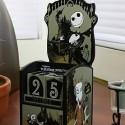 Nightmare Before Christmas Jack Skellington Wooden Calendar