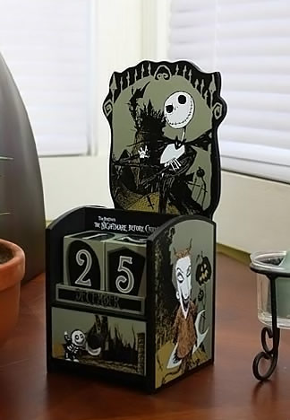 Nightmare Before Christmas Jack Skellington Wooden Calendar