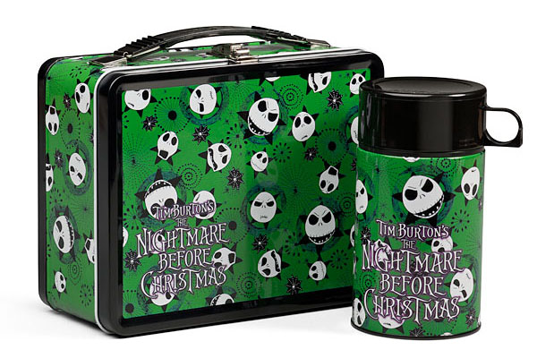 Nightmare Before Christmas styled metal lunch box Featuring the many ...