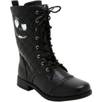 Nightmare Before Christmas Quilted Jack Combat Boots