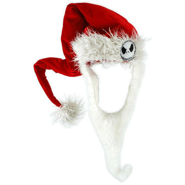 Nightmare Before Christmas Santa Jack Hat with Beard