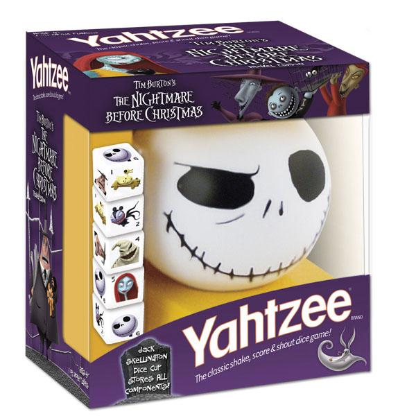 Nightmare Before Christmas Travel Yahtzee Game