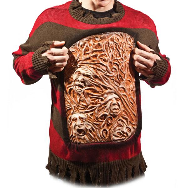 Nightmare on Elm Street Freddy Krueger Animated Chest of Souls Sweater