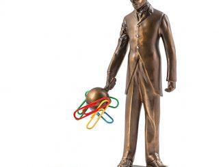 Nikola Tesla Magnetic Statue