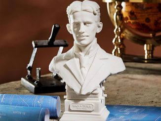 Nikola Tesla Marble Resin Sculptural Bust