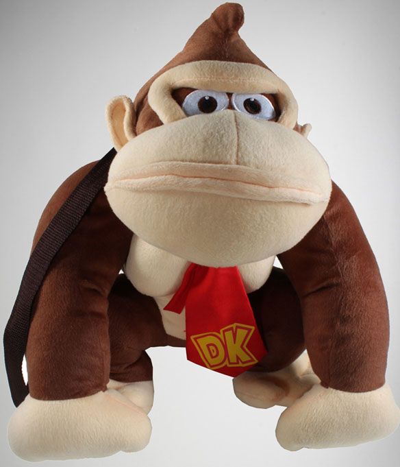 Nintendo Donkey Kong Plush Mini Backpack
