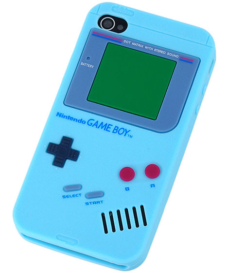 Nintendo GameBoy Design Silicone iPhone 4 Open-face Case