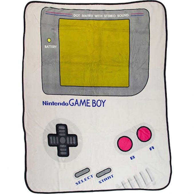 Nintendo Gameboy Plush Fleece Throw