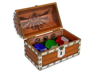 Nintendo Legend of Zelda Rupee Chest Paperweight