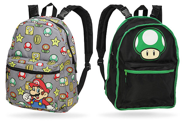 Nintendo Mario Mushroom Reversible Backpack