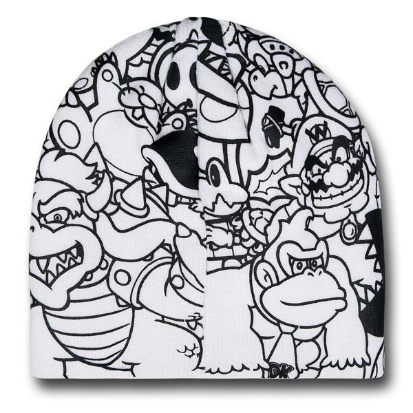 Nintendo Mario Print Beanie