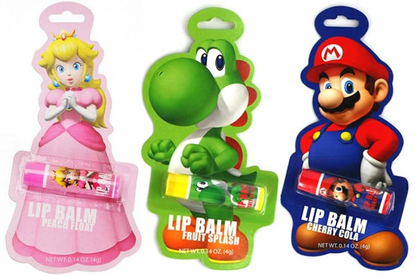 Nintendo Mario, Yoshi, and Princess Peach Lip Balms