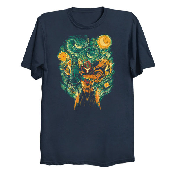 Nintendo Metroid Starry Night Mashup Shirt
