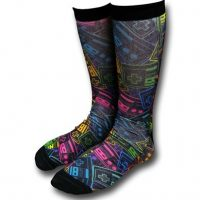 Nintendo Neon Controllers Sublimated Crew Socks