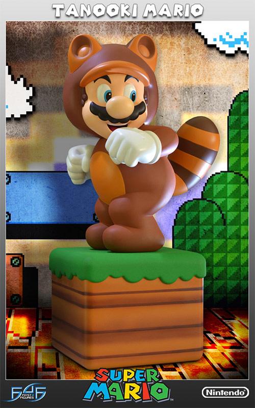 Nintendo Super Mario 3D Land Tanooki Mario Statue