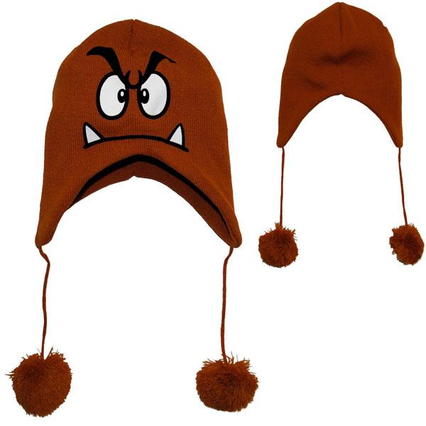 Nintendo Super Mario Bros Goomba Peruvian Laplander Knit Cap