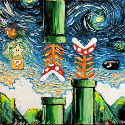 Nintendo Super Mario Starry Night Print