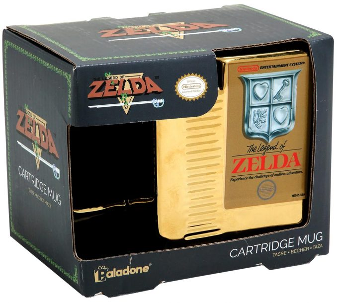 Nintendo The Legend of Zelda Gold Cartridge Mug