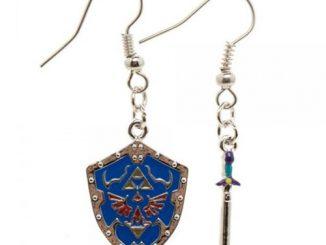 Nintendo Zelda Shield and Sword Earrings
