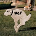 No Pausing Pooch Lawn Sign