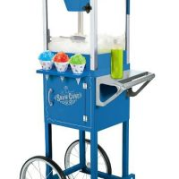 Nostalgia Electrics SCC-200 Vintage Collection 54 Inch Old Fashioned Snow Cone Cart