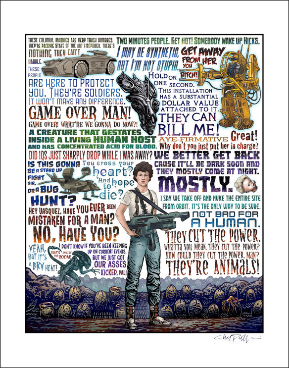 Not Bad For A Human Aliens Tribute Art Print