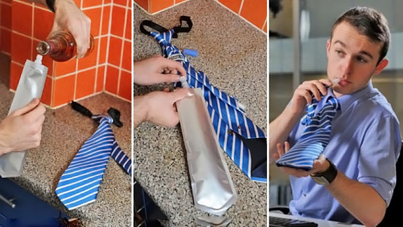 Novelty Flask Tie