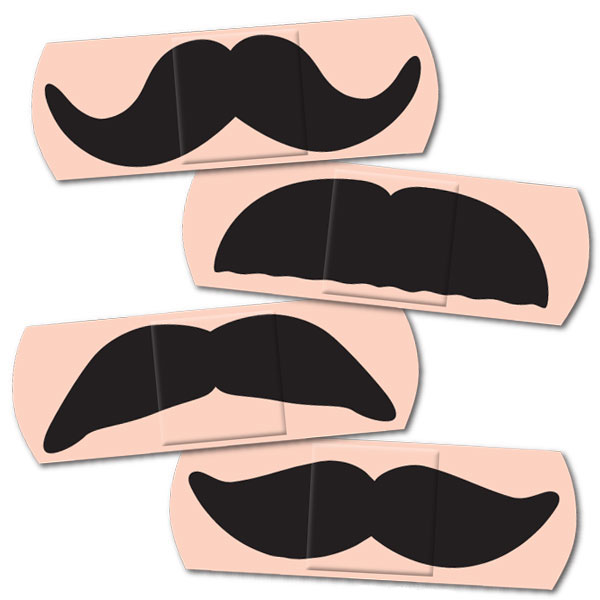 Novelty Mustache Bandages