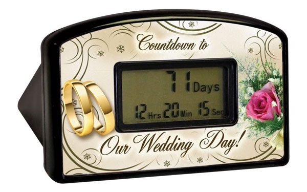 Novelty Wedding Countdown Timer