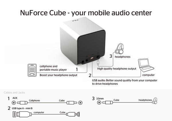 NuForce Cube 3-in-1 portable audio speaker