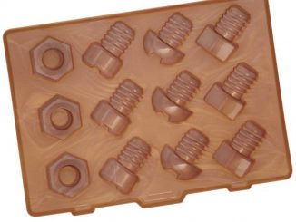 Nuts and Bolts Silicone Ice Cube Tray