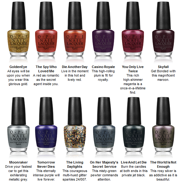 OPI Skyfall Collection Nail Polish