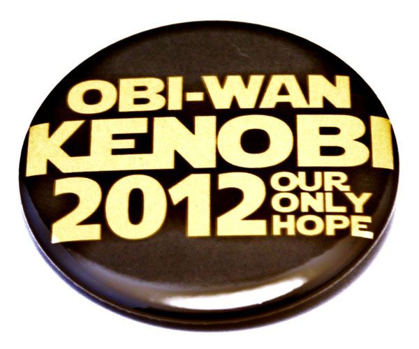 Obi Wan Kenobi Only Hope Pinback Button