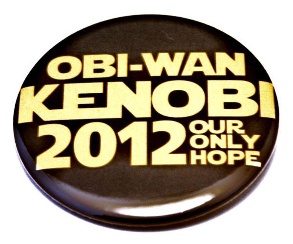 Obi Wan Kenobi Only Hope Pinback Button