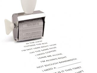 Office Speak Rotating Stamp