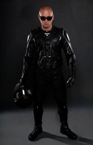 Tron & Rinzler Light Sensitive Motorcycle Suits