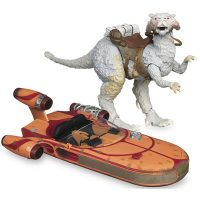 Officially Licensed Star Wars Vintage Vehicles (Tauntaun and Landspeeder)