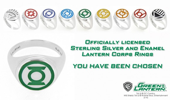 Officially Licensed Sterling Silver & Enamel Lantern Corp Rings