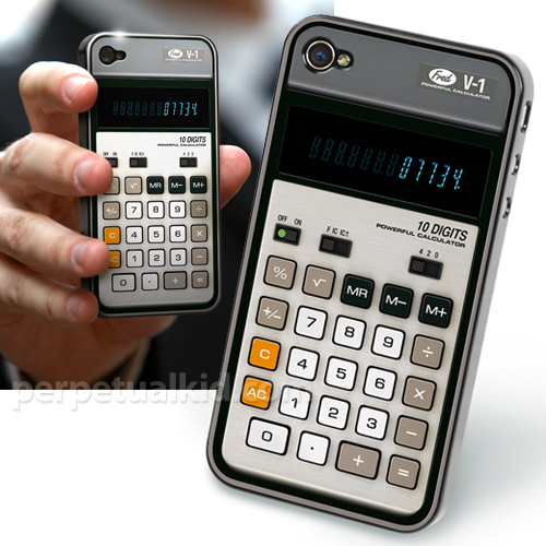 Old-School Calculator iPhone 4G Case