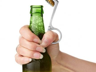 One Handed Bottle Opener