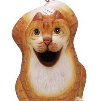 Opened Mouth Cat Birdhouse