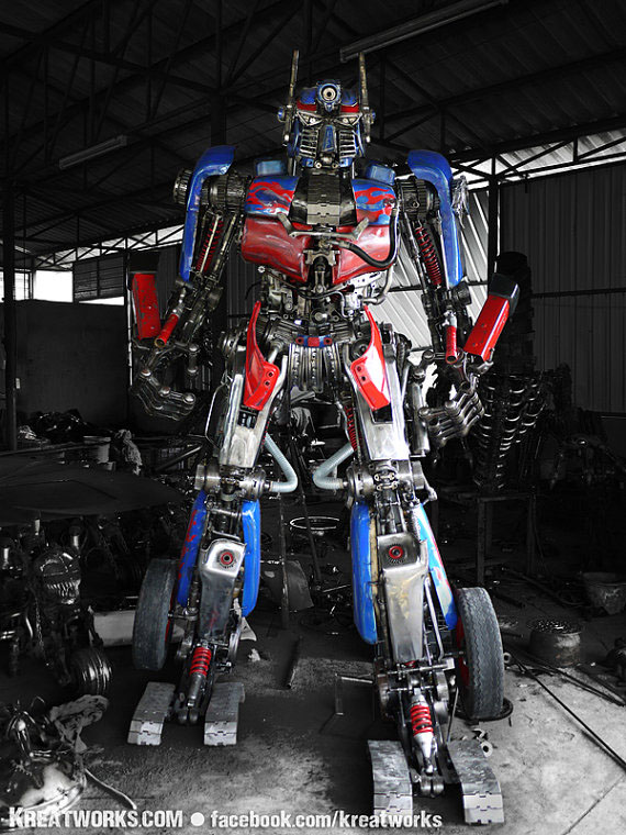 Optimus Prime Transformer Sculpture