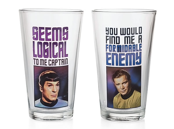 Original Star Trek Pint Glass Set