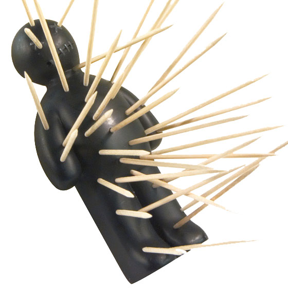Ouch toothpicks toothpick holder - Voodoo toothpick holder ...