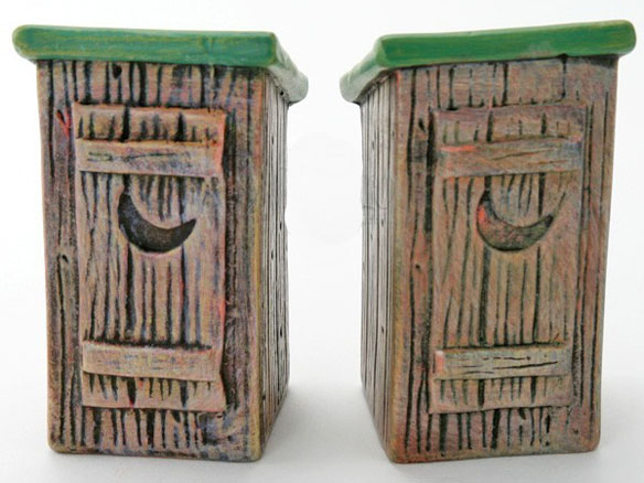 Outhouse Shaped Salt and Pepper Shakers