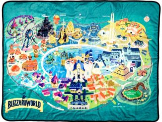Overwatch Blizzard World Throw Blanket